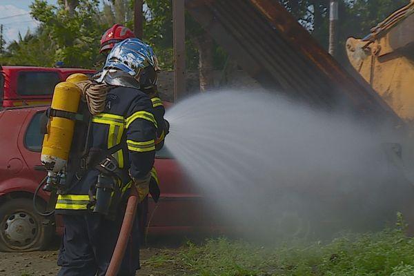 Avec les pompiers métropolitains, ceux de Teva I Uta sont parés à tout