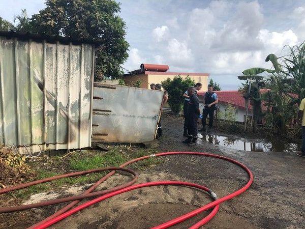 incendie mortel d'une case à bagatelle Sainte-Suzanne 180120
