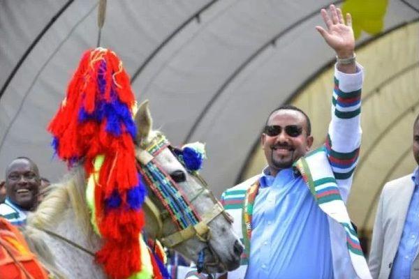 Le Premier ministre éthiopien Abiy Ahmed, lors d'une visite dans le Sud-Ouest de l'Ethiopie le 15 septembre 2019