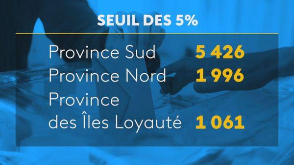Provinciales 2019: le seuil des 5 %
