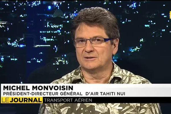 Michel Monvoisin le président du conseil d'administration d'Air Tahiti Nui était l'invité du journal