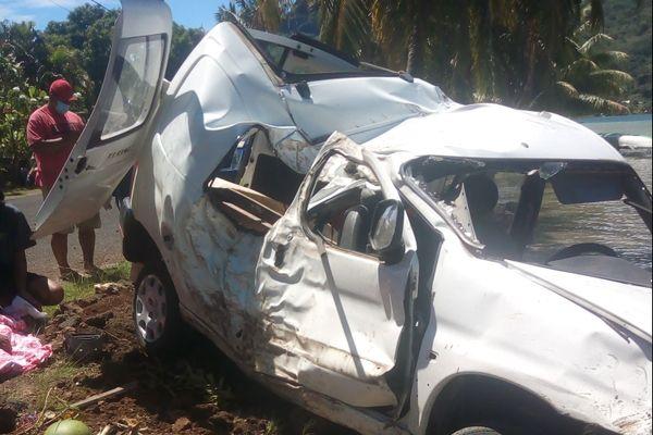 accident mortel de la route à Bora Bora