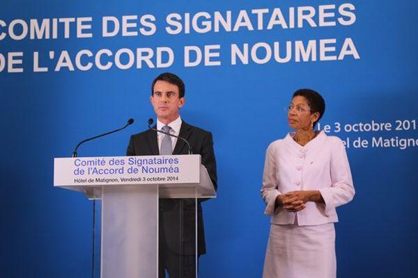 Manuel Valls et George Pau-Langevin / 12ème Comité des signataires