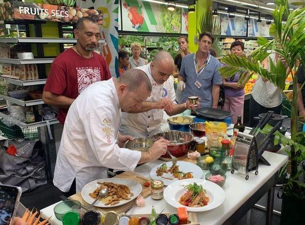Fête des produits locaux, cuisine dans une grande surface