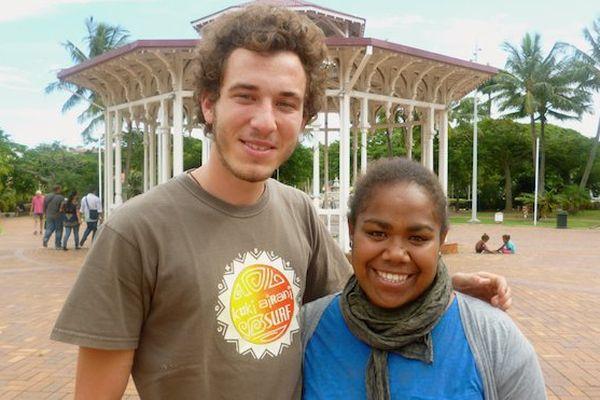 Brice et Claire, volontaire européens