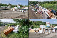 Les déchets sont déposés aux portes des déchetteries fermés depuis plusieurs jours.