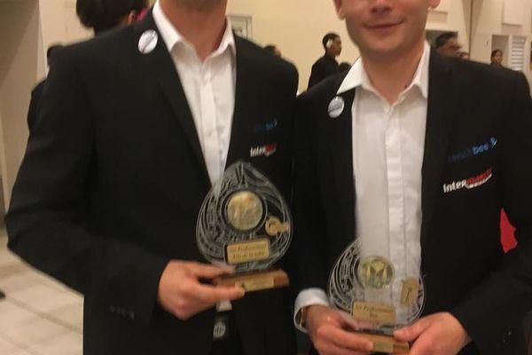 Pirre-Luc Baroux et Jérémy Jacquemet, 1er prix Professionnel Equipe Art et Table