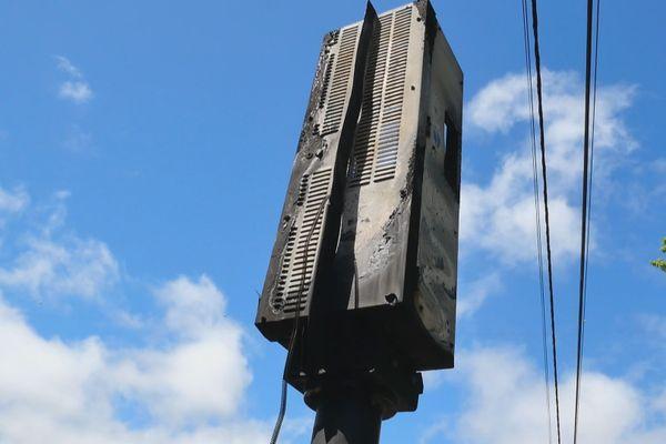 Radar Salazie brûlé