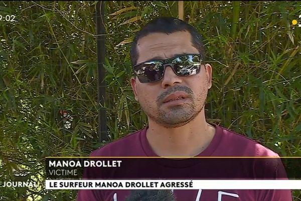 Le surfeur Manoa Drollet agressé à son domicile