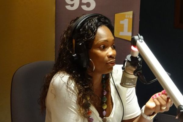 Laura Flessel à Guyane 1ère radio