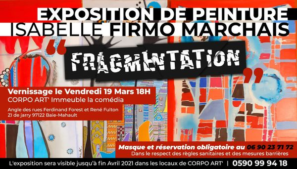 Invitation vernissage Exposition Fragmentation d'Isabelle Firmo-Marchais