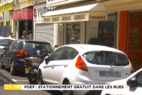 Fort de France parkings gratuits