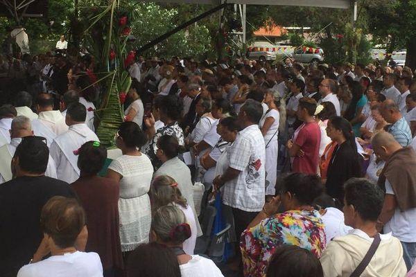 La foule lors de la cérémonie