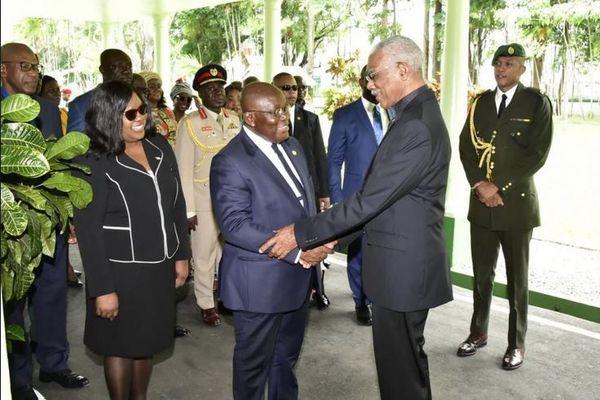 Guyana visite president du Ghana