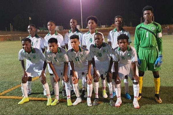 La sélection U15 du Suriname le 27 12 2019