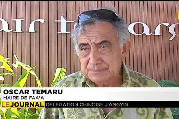 Assainissement : Oscar Temaru accueille une délégation chinoise