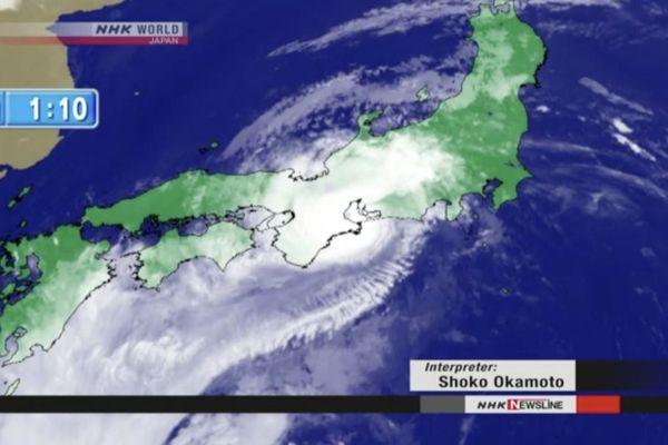 Le typhon Jongdari a touché le Japon dimanche à une heure du matin