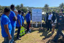 Le chantier d'insertion lancé sur le front de mer de Grand-Bois a été inauguré ce dimanche 5 septembre