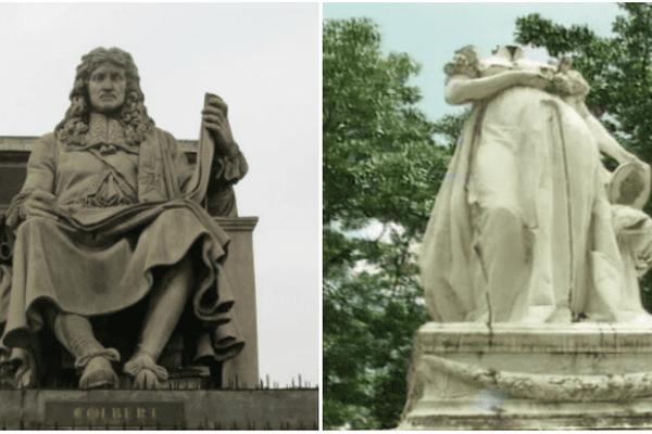 statues colbert et Joséphine