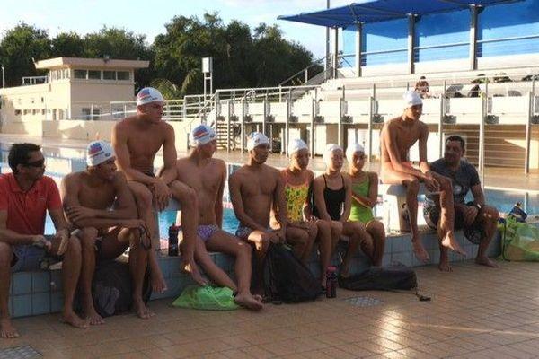 JIOI 2019 sélection Réunion natation a l'entrainement piscine du Chaudron avant départ 040719