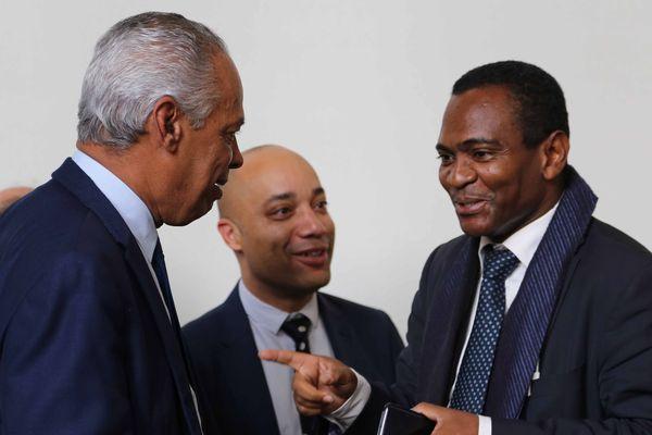 Victorin Lurel et Ibrahim Aboubacar, député de Mayotte