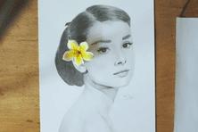 L'actrice Audrey Hepburn dessinée par Nyko PK16