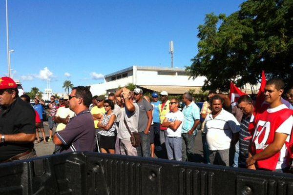 Rassemblement grévistes BTP GTOI