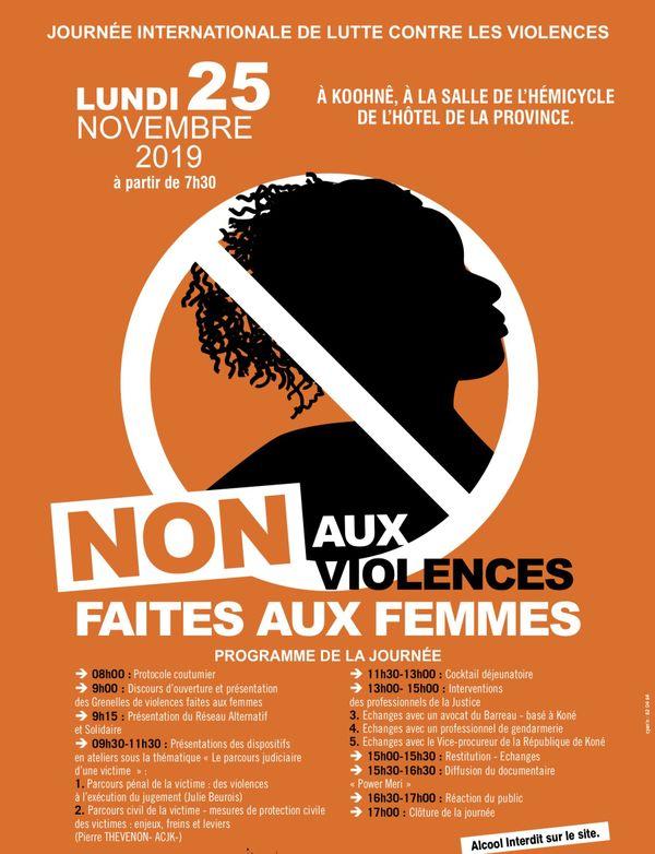 25 novembre en province Nord, affiche