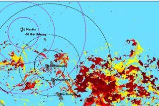 Carte des sargasses en Caraïbes