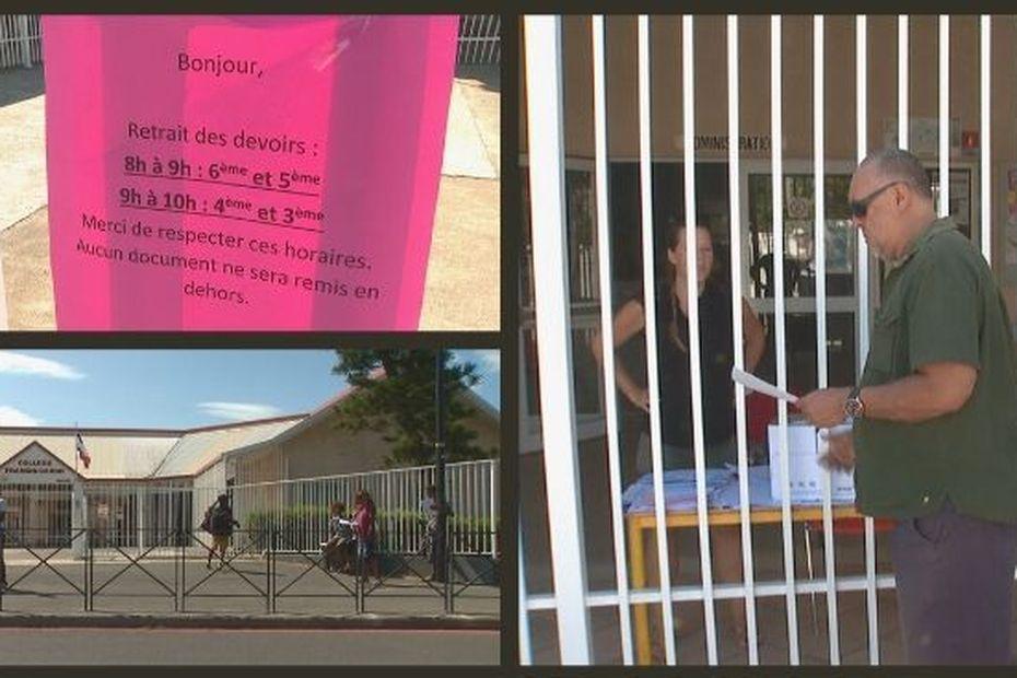Les établissements scolaires s'organisent pour les non-connectés - Nouvelle-Calédonie la 1ère