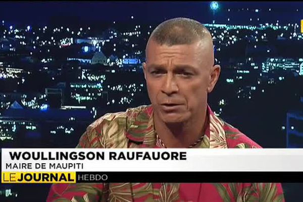 Woullingson Raufauore, maire de Maupiti était l'invité du journal