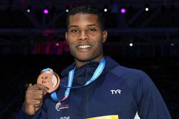 Le Guyanais Mehdy Metella a remporté la médaille de bronze du 100 m aux mondiaux de natation à Budapest.