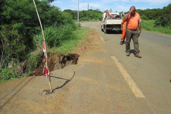 Etat des routes après le spluies, Népoui, 20 janvier 2021
