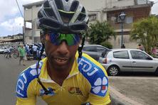Le coureur cycliste Mickael Laurent lors d'un tour de la Martinique.