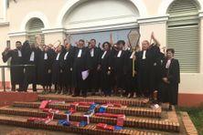 Les avocats mobilisés le 16 janvier sur les marches du palais de justice de Cayenne