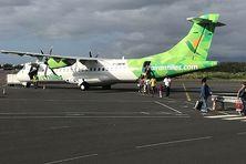 Avion d'Air Antilles assurant la desserte régionale entre la Guadeloupe et la Martinique