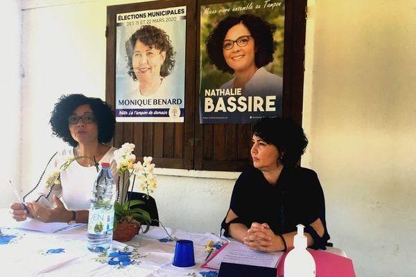 Municipales 2020 Le Tampon alliance Nathalie Bassire et Monique Bénard 310520