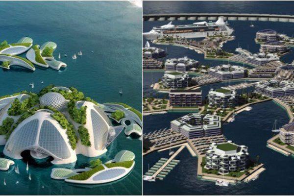 Ville flottante Polynésie