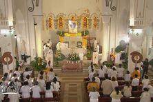 Messe de Pâques 2021 à l'église de Balata (4 avril 2021).