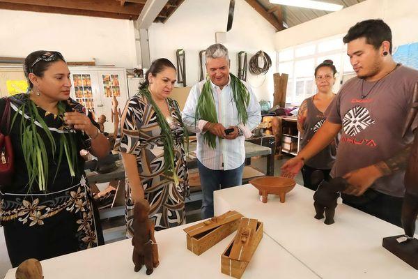 Une délégation de Wallis et Futuna au centre des métiers d'art de Polynésie Française