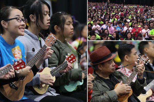 Hong Kong détient le nouveau record de ukulele