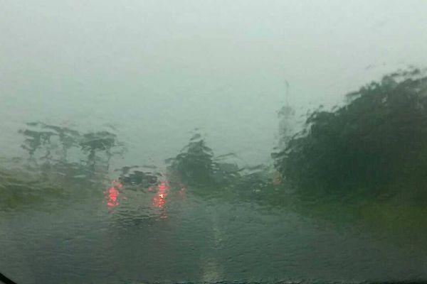 Pluie sur Destrellan