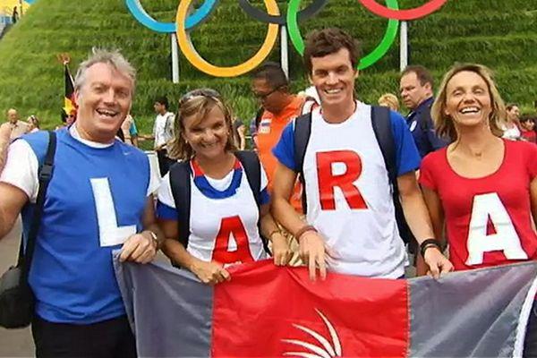 Les supporters de Lara Grangeon aux Jeux Olympiques de Londres