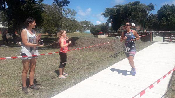 Triathlon du lagon 2019, Charlotte Robin gagne