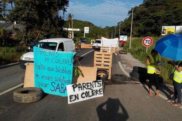 Le blocage de laroute de Kourou 8 juin