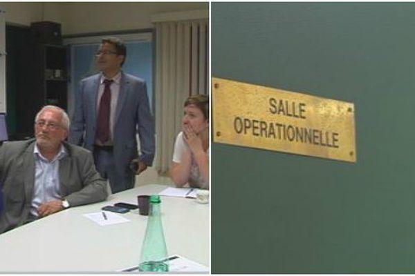 La cellule opérationnelle du poste de commandement de la gendarmerie