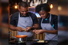 équipe engagée dans le concours des jeunes talents de la table créole
