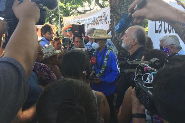 Oscar Temaru en pause de grève de la faim