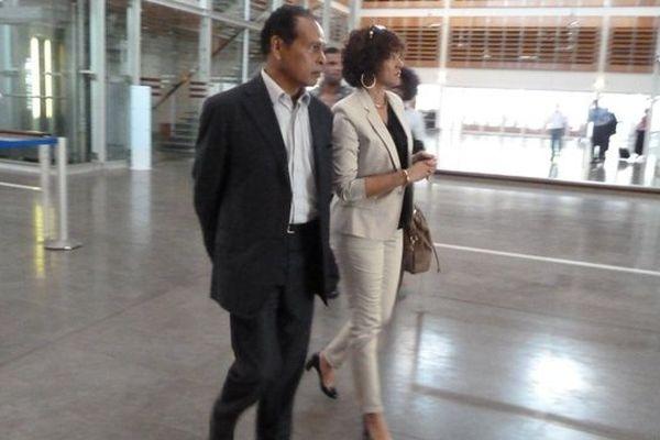 Léon Bertrand accompagné de son épouse