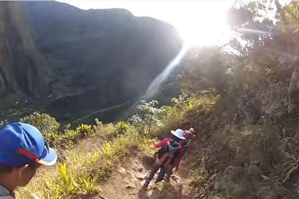 Randonneurs à La Réunion vers Grand Bassin